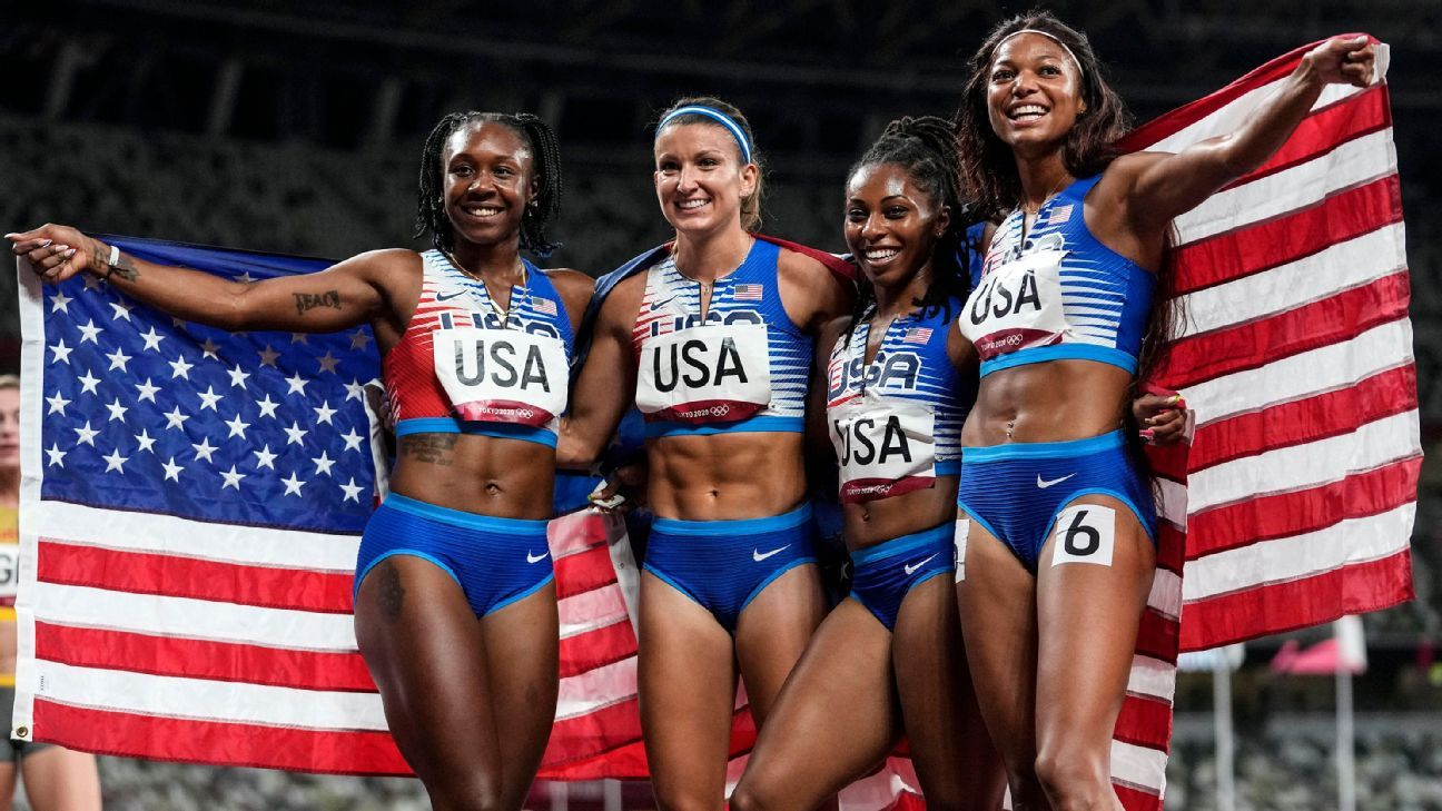 U.S. relay wins silver; Hassan denied track triple thumbnail