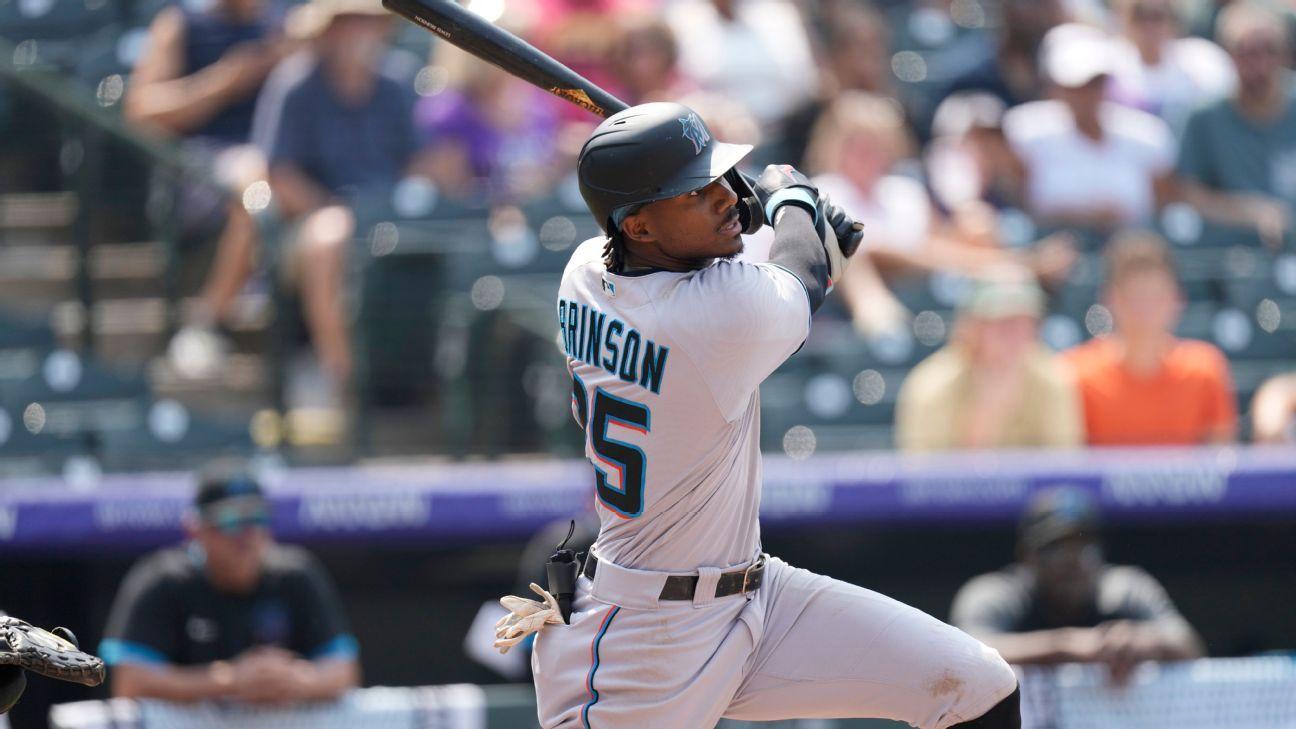 Colorado Rockies investigating after fan uses racial slur during Miami Marlins outfielder Lewis Brinson's at-bat