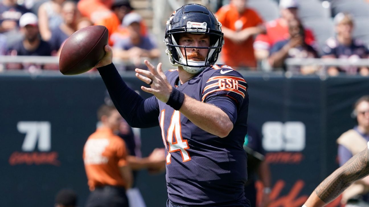 Andy Dalton to start Week 1 for Chicago Bears with Justin Fields getting nod for preseason finale