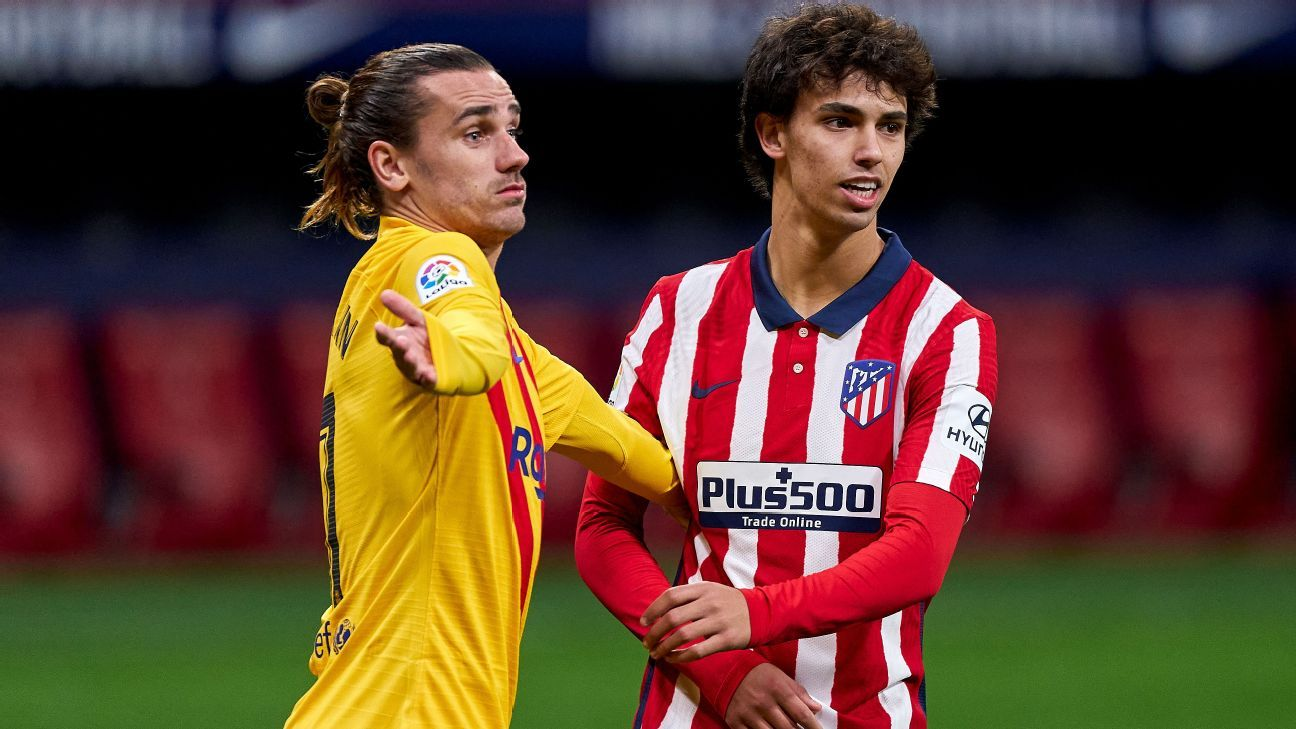Barcelona and Atletico Madrid in Griezmann, Joao Felix swap talks - sources