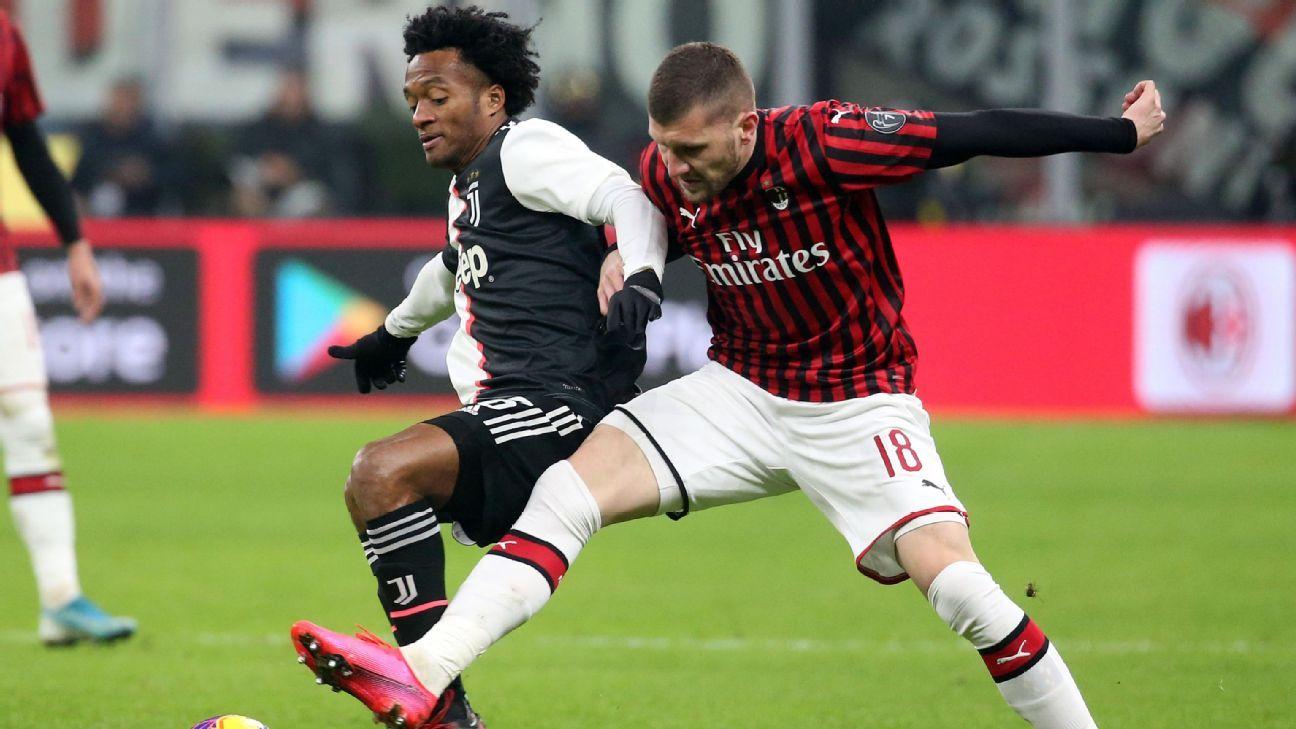 Juventus y Juan Guillermo Cuadrado buscarán levantar cabeza en el clásico frente a Milan por la Serie A
