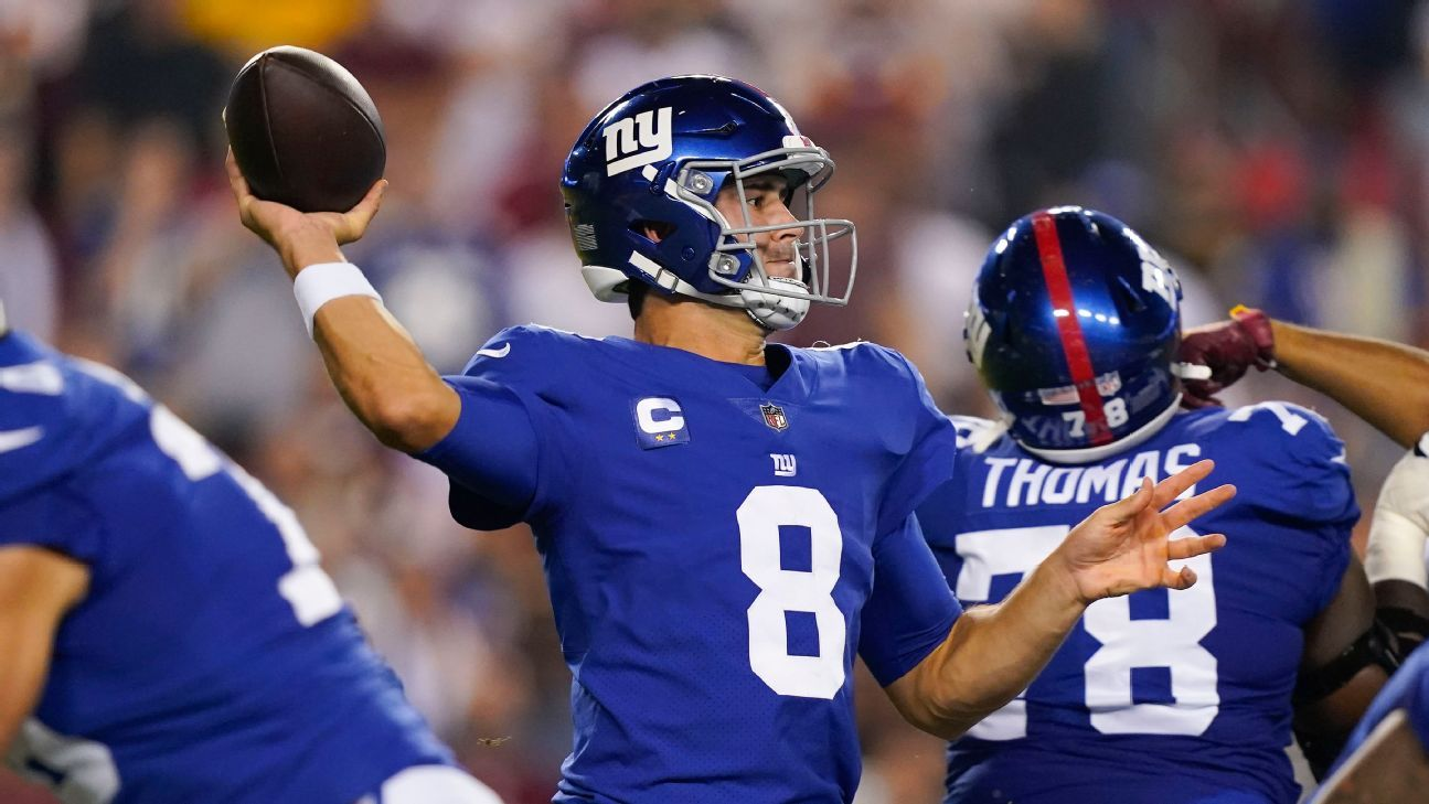 New York Giants' Daniel Jones - Kenny Golladay frustrated, but they'll work through it
