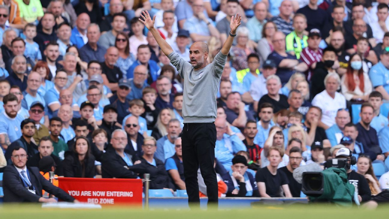 Pep Guardiola fumes at Man City fans, but he's really angry at his attacking options - ESPN