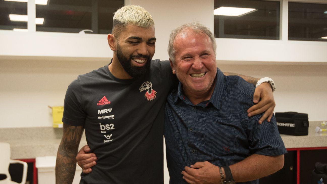 Zico aponta lugar de Gabigol na história do Flamengo e cita o diferencial de Renato: 'É a grande vantagem'