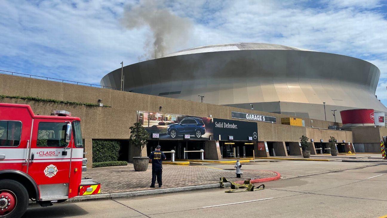 Se incendia el techo del Superdome de los Saints