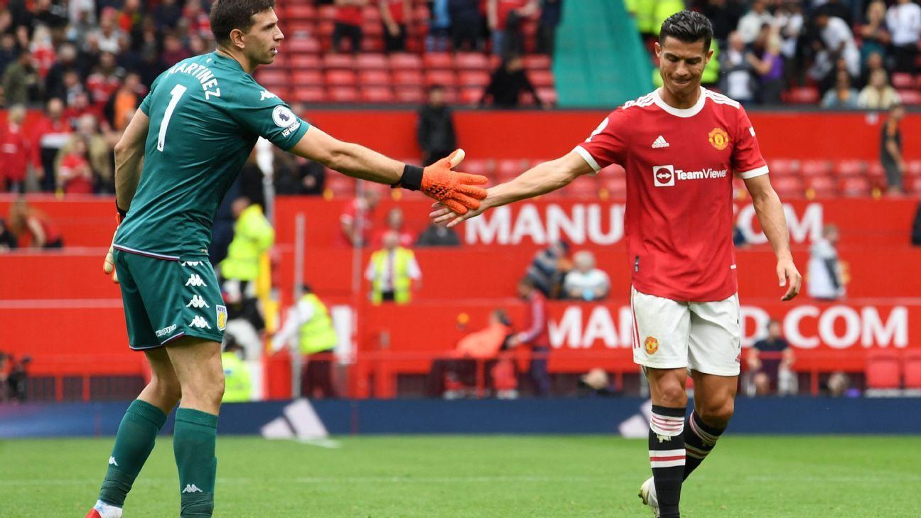 Emiliano Martínez retó a Cristiano a tirar el penal, Bruno Fernandes lo voló y el portero festejó con un baile