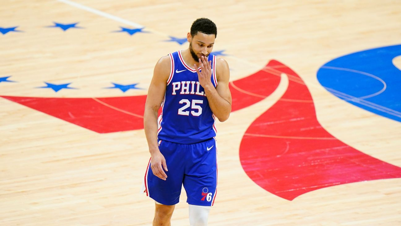 Ben Simmons tells Philadelphia 76ers he's not mentally ready to play, sources say