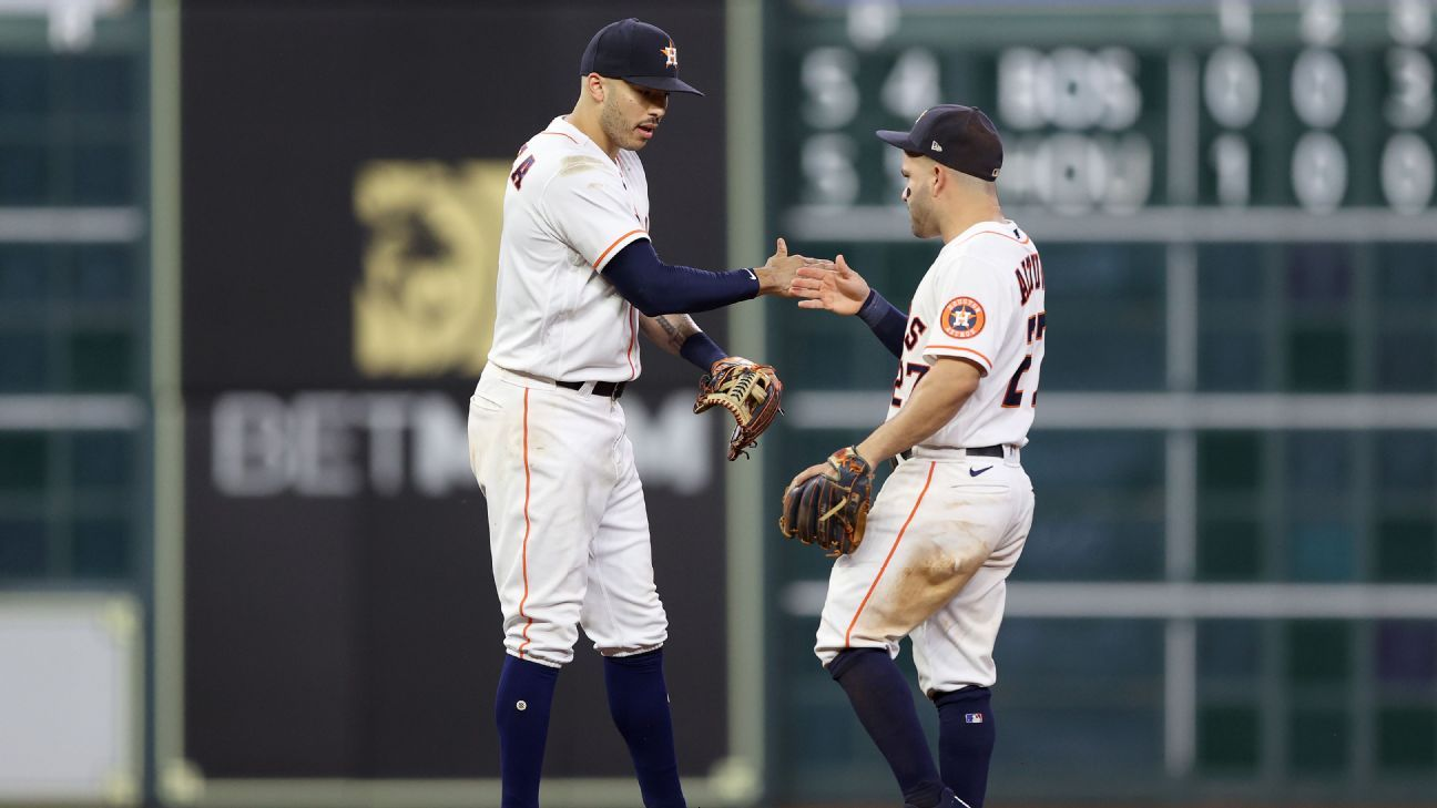 Houston Astros star duo Jose Altuve, Carlos Correa down Red Sox with two homers in ALCS Game 1 win