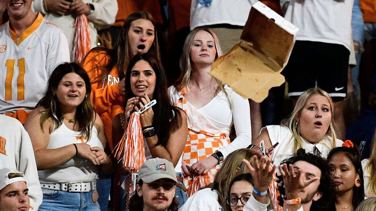 Vols fined for fan behavior during loss to Ole Miss