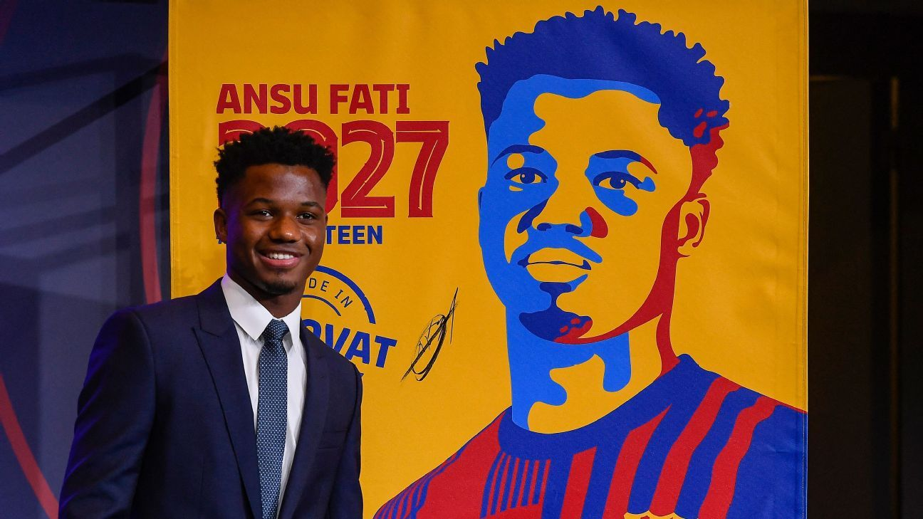 Barcelona need Ansu Fati and he couldn't be happier to be the new star to turn the club around - ESPN