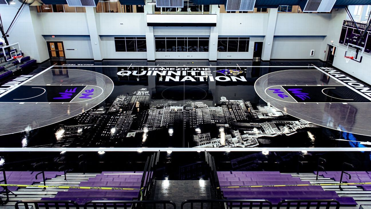 Paul Quinn College's new basketball court provides an artistic history lesson