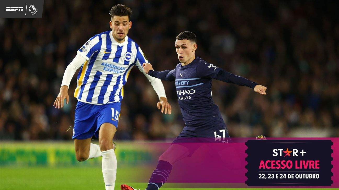 Foden faz dois e dá assistência, City atropela a sensação Brighton e segue a caça ao líder Chelsea