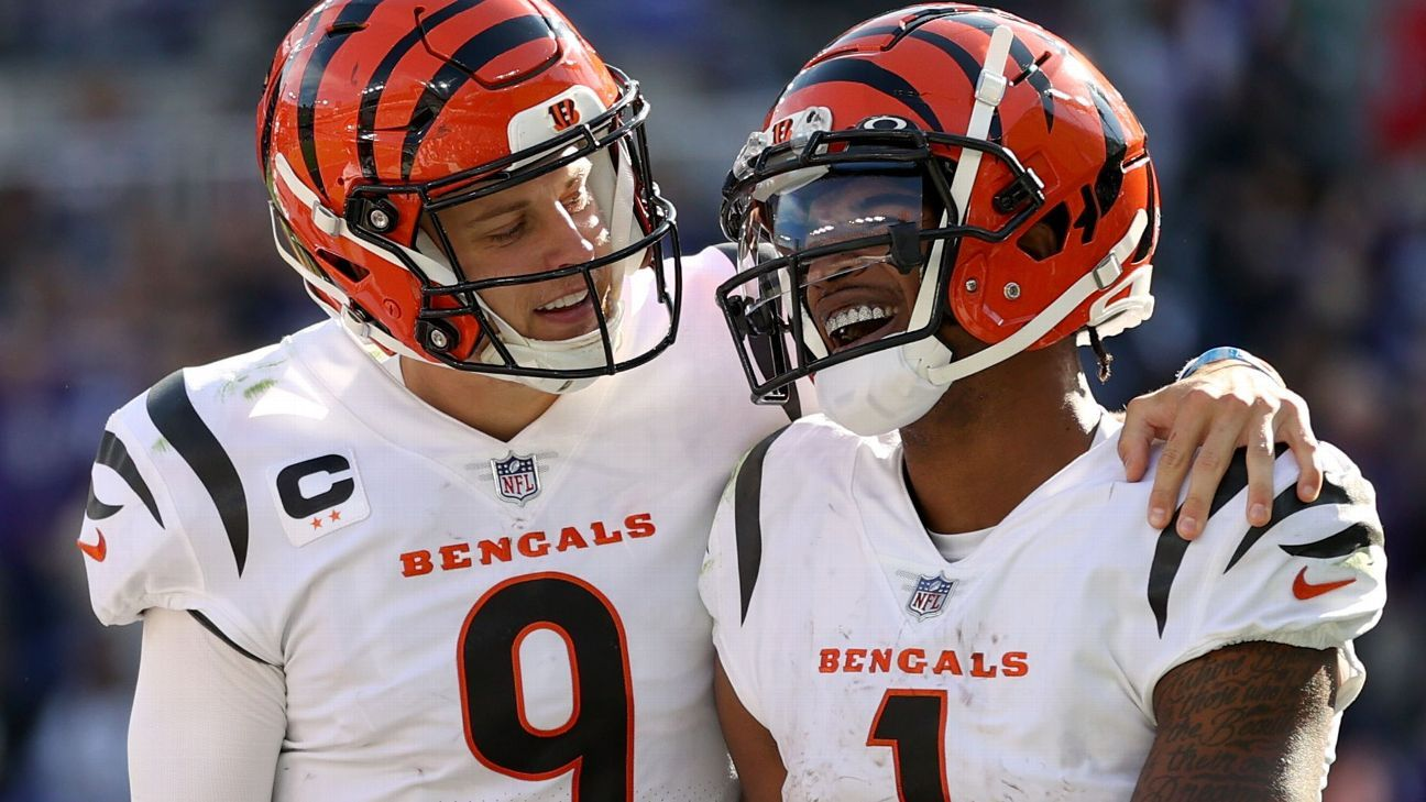 Burrow, Chase help Bengals author statement win