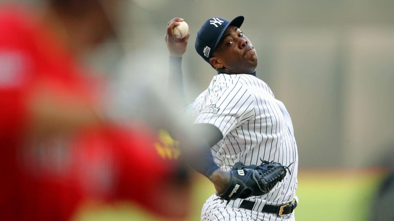 Yankees gần Aroldis Chapman xét nghiệm dương tính với coronavirus