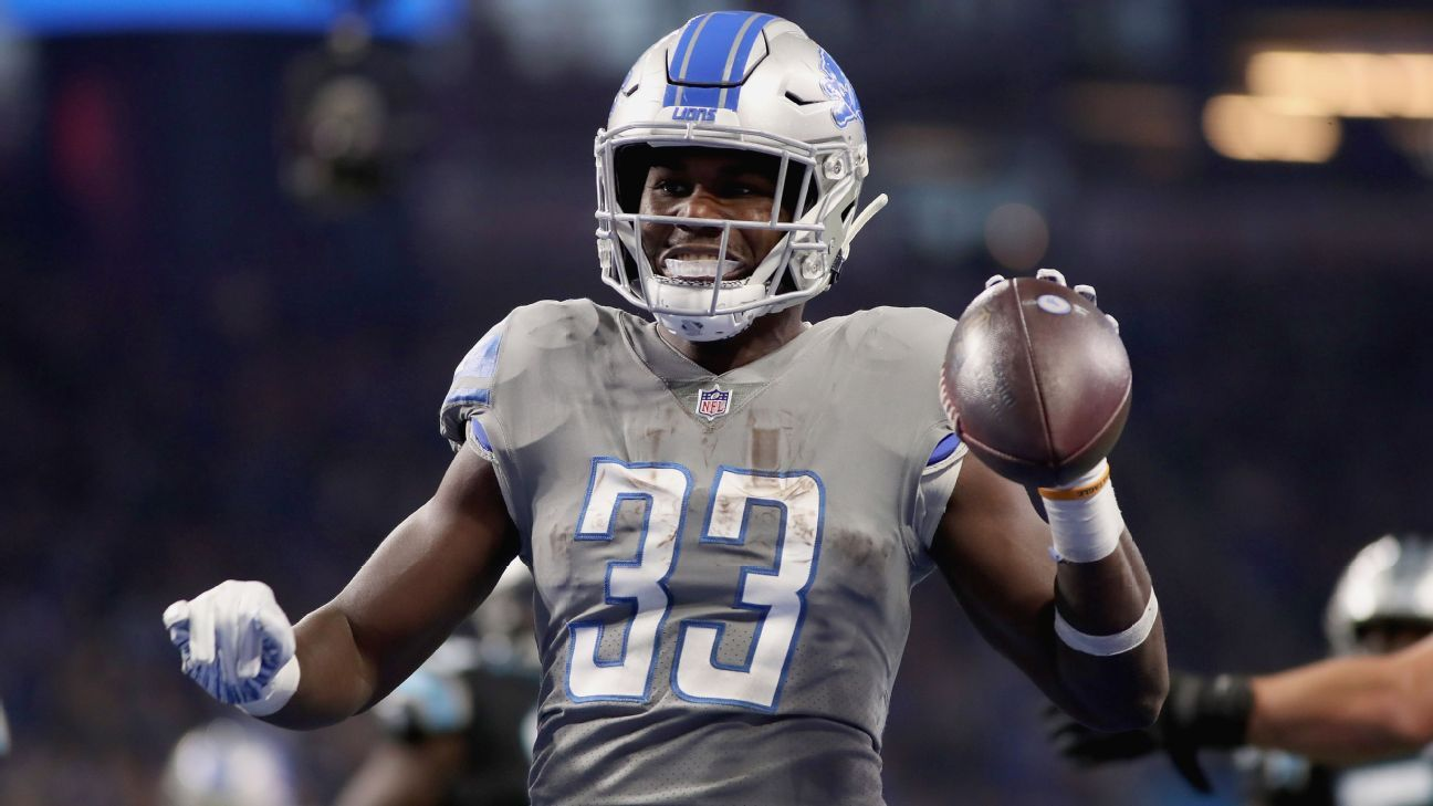 Eagles claim former Lions RB Johnson off waivers