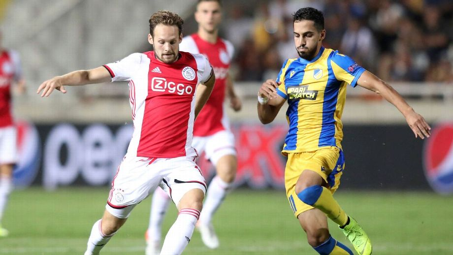 Ajax face UCL fight after first-leg playoff draw