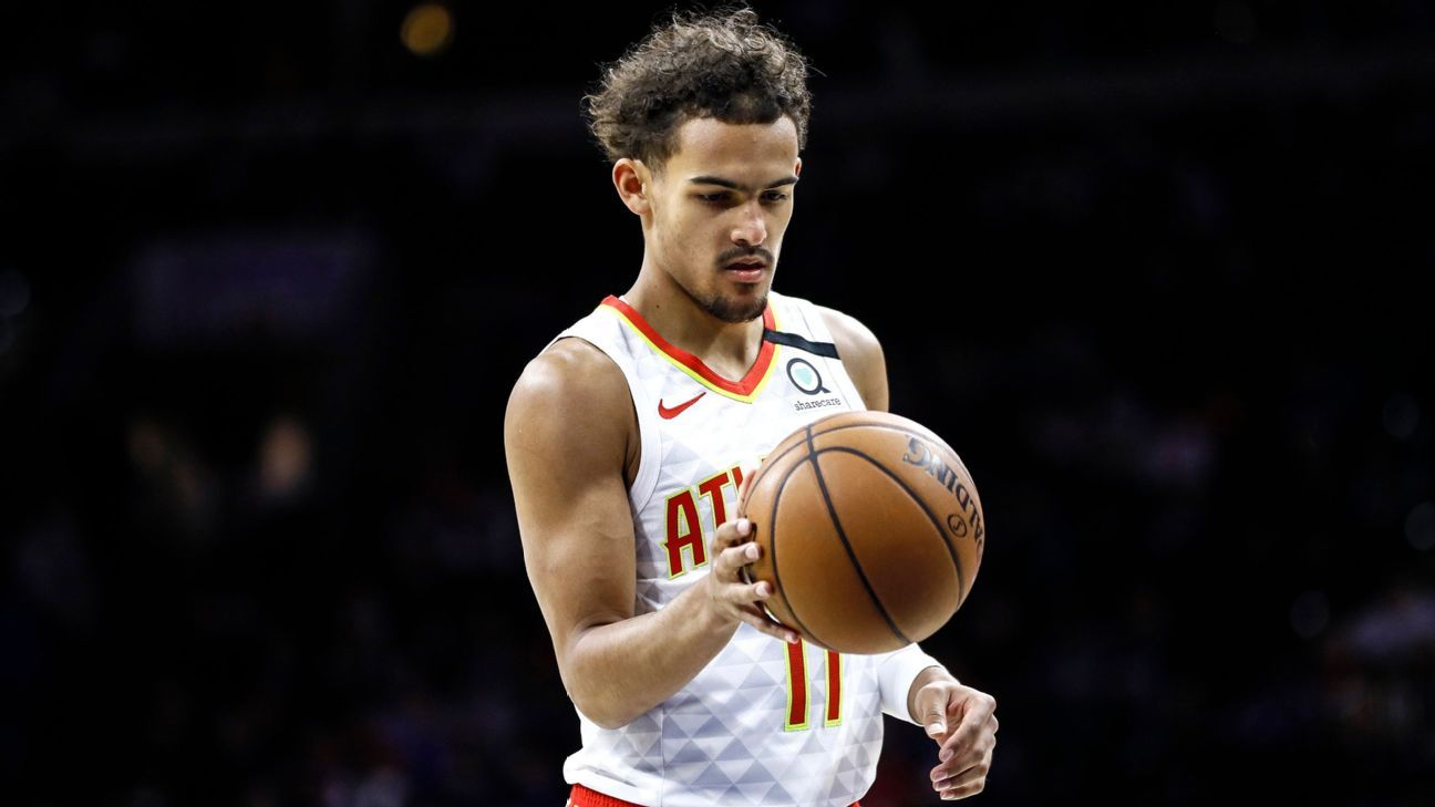 Atlanta Hawks' Trae Young Grayson Allen of Memphis Grizzlies exchanges words on Twitter after feet tangled