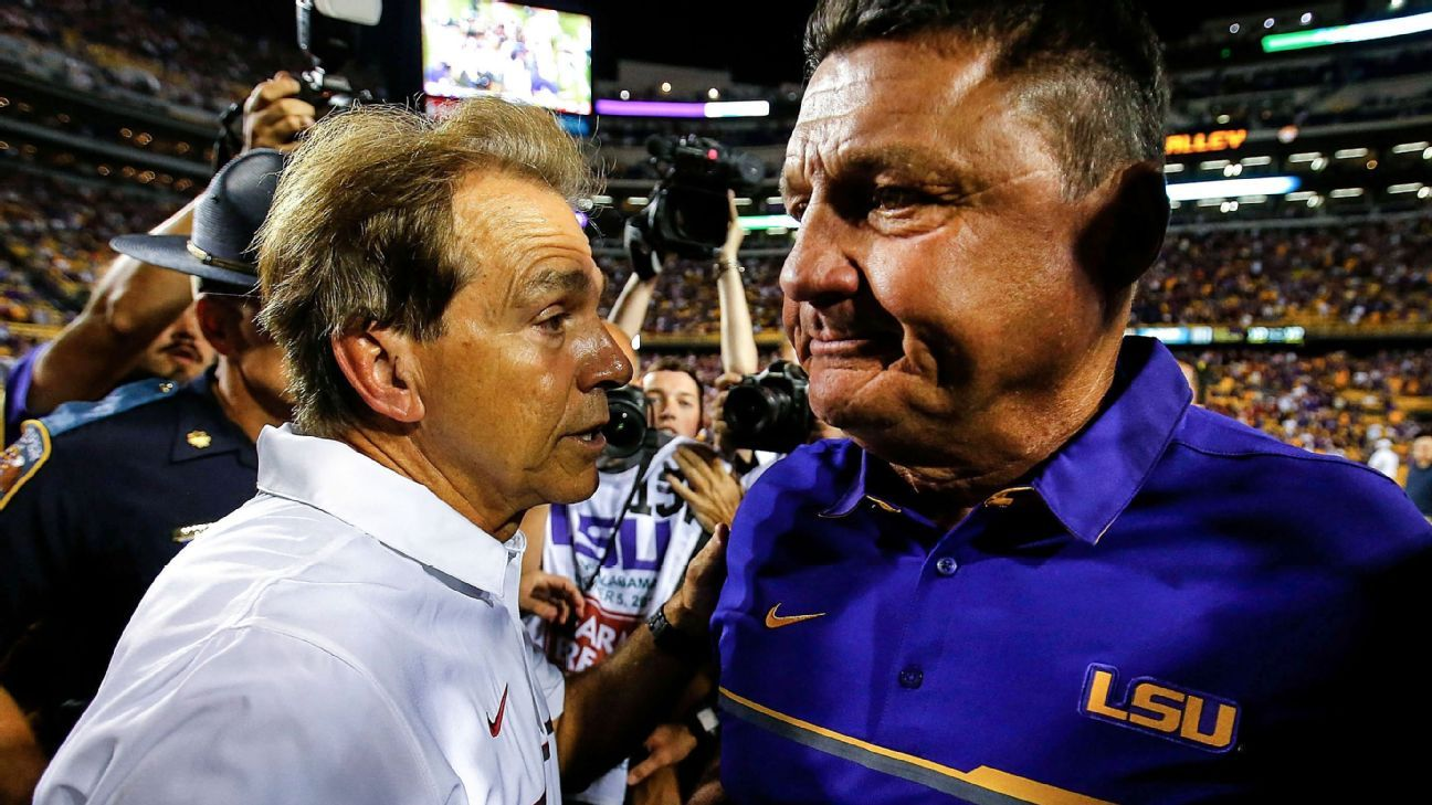 Alabama-LSU college football game in jeopardy after Tigers' COVID-19 tests