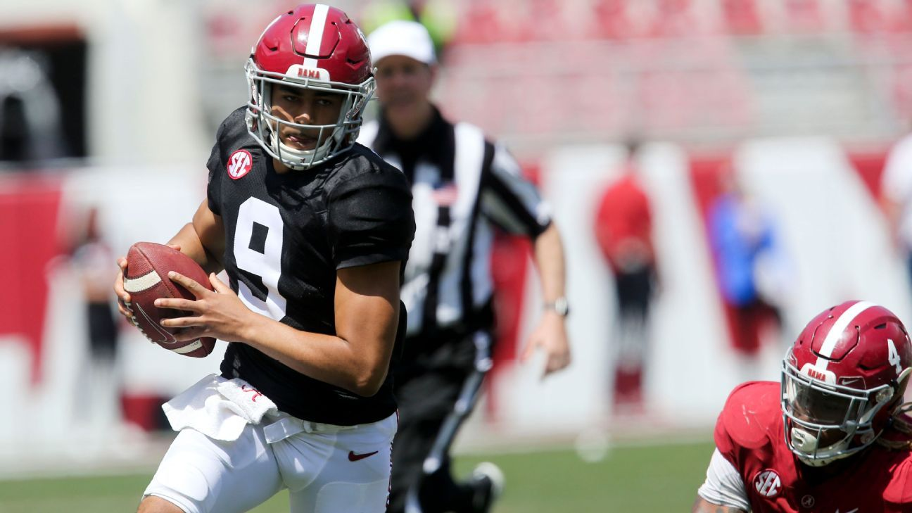 QB Young shines in Tide spring recreation, nabs MVP