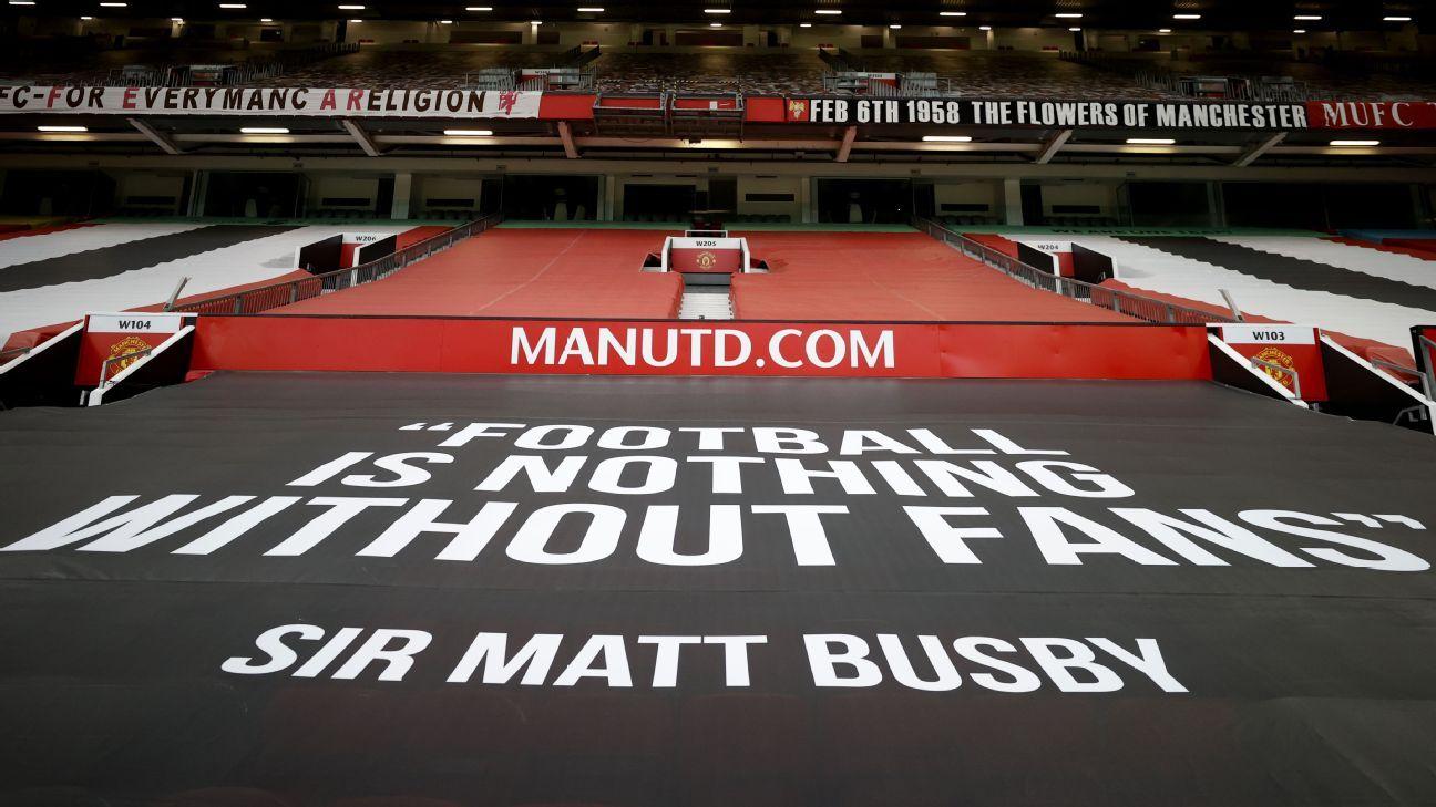 Man United fans break into Carrington training ground against Glazers protest