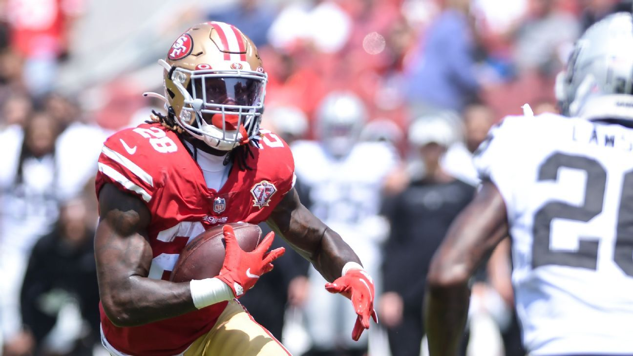 <div>49ers' RB picture comes into focus for Pack clash</div>