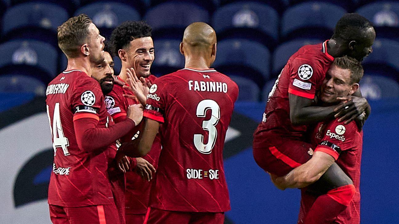 FC Porto vs. Liverpool – Football Match Report – September 28, 2021 – ESPN