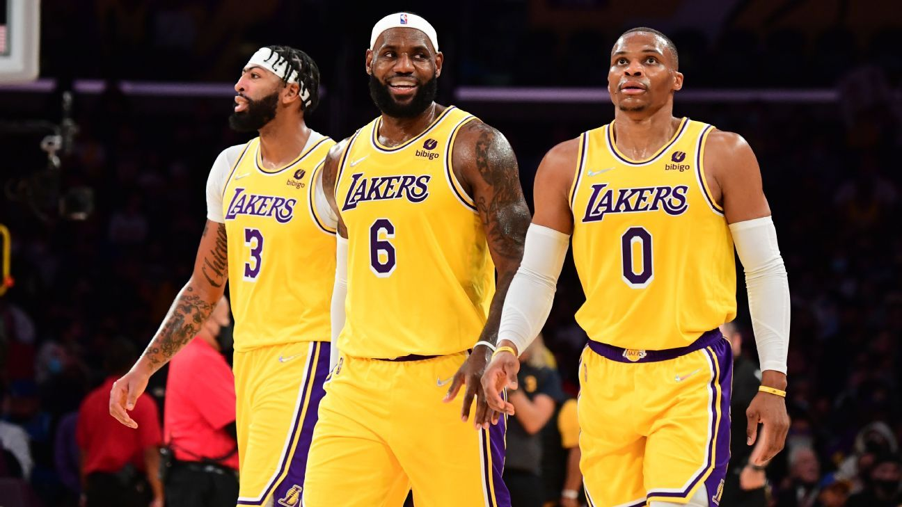 LeBron, AD, Russ talk patience after loss in debut